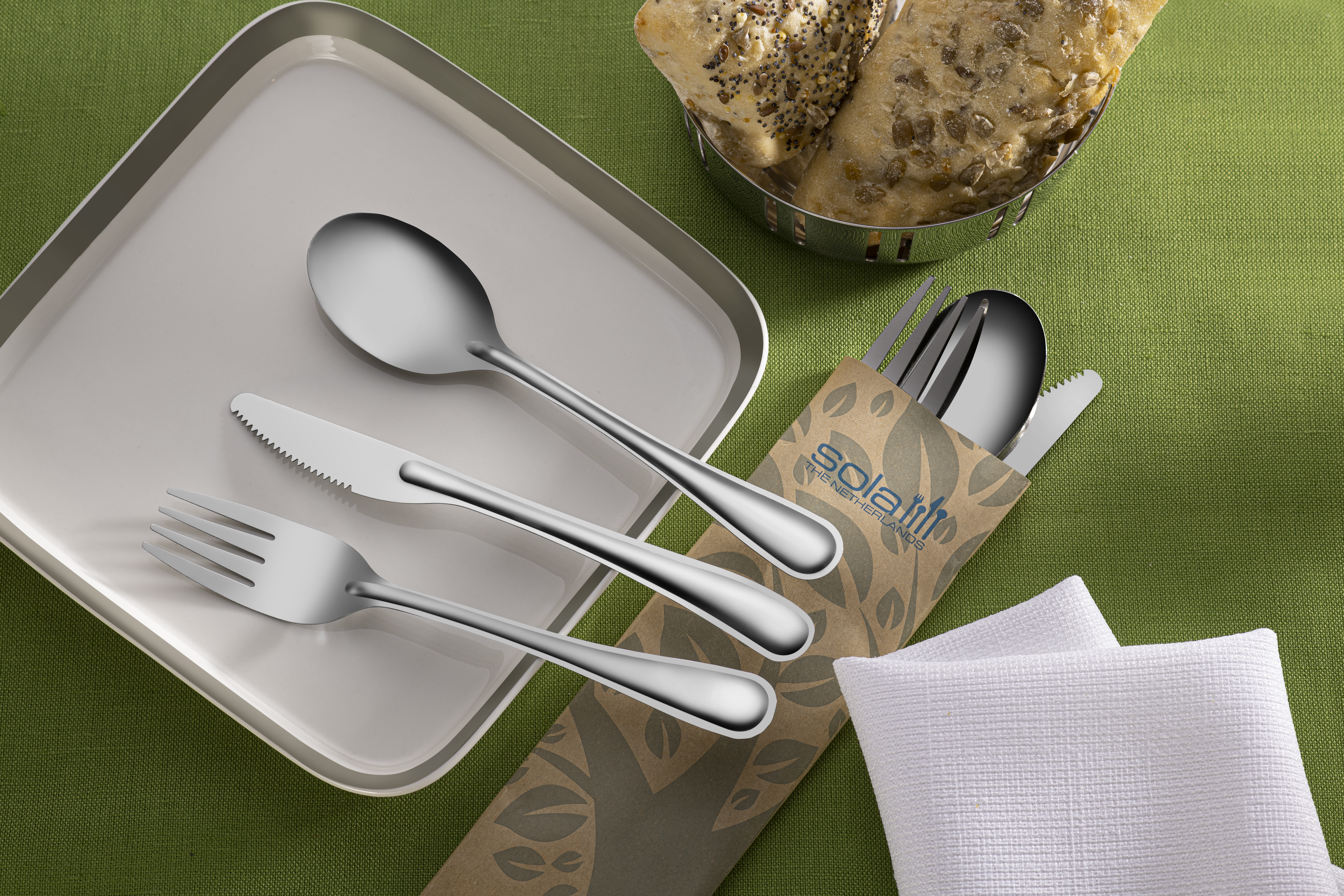 Replacement of plastic cutlery
